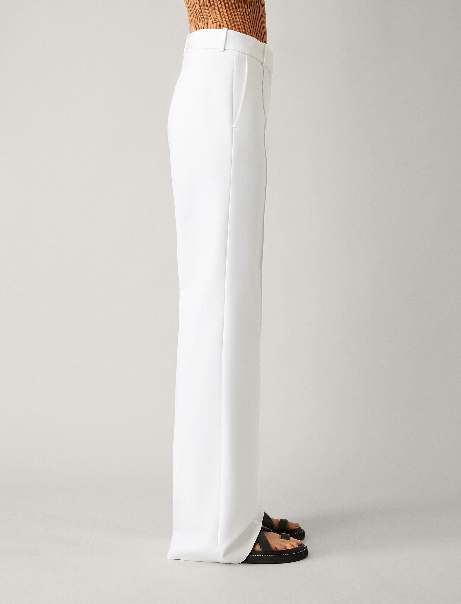 Joseph, Richard Double Cotton Stretch Trousers, in WHITE