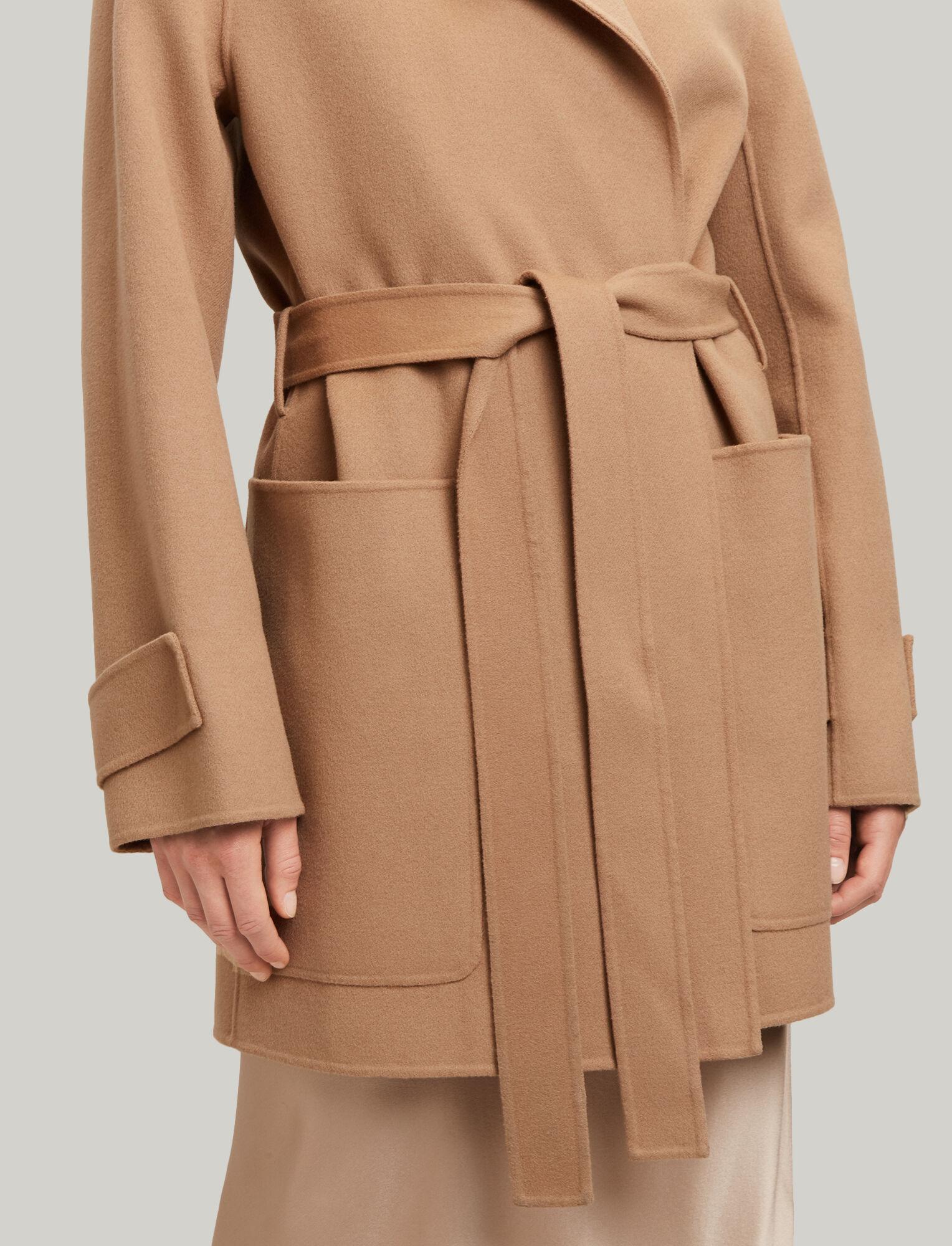 e57fdb44658 ... Joseph, Lista Short Double Wool Gloss Coat, in CAMEL ...