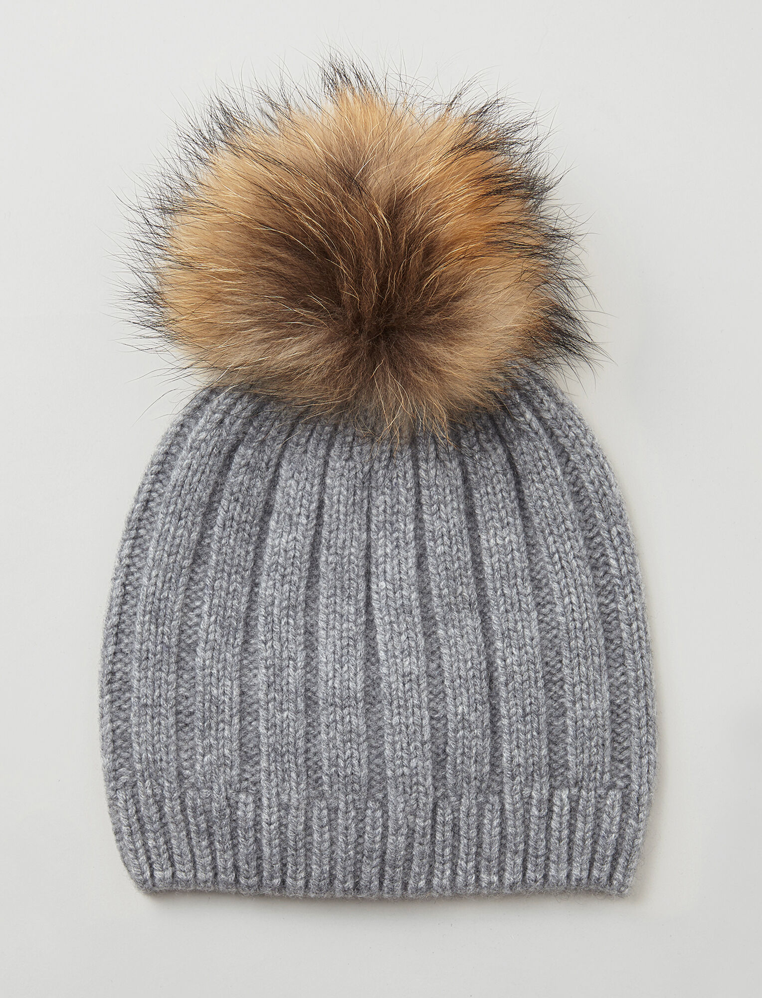 Joseph, Cashmere Luxe Pompon Hat, in CONCRETE