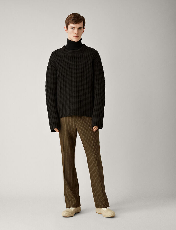 Joseph, Edwards Pinstripe Wool Trousers, in MUD