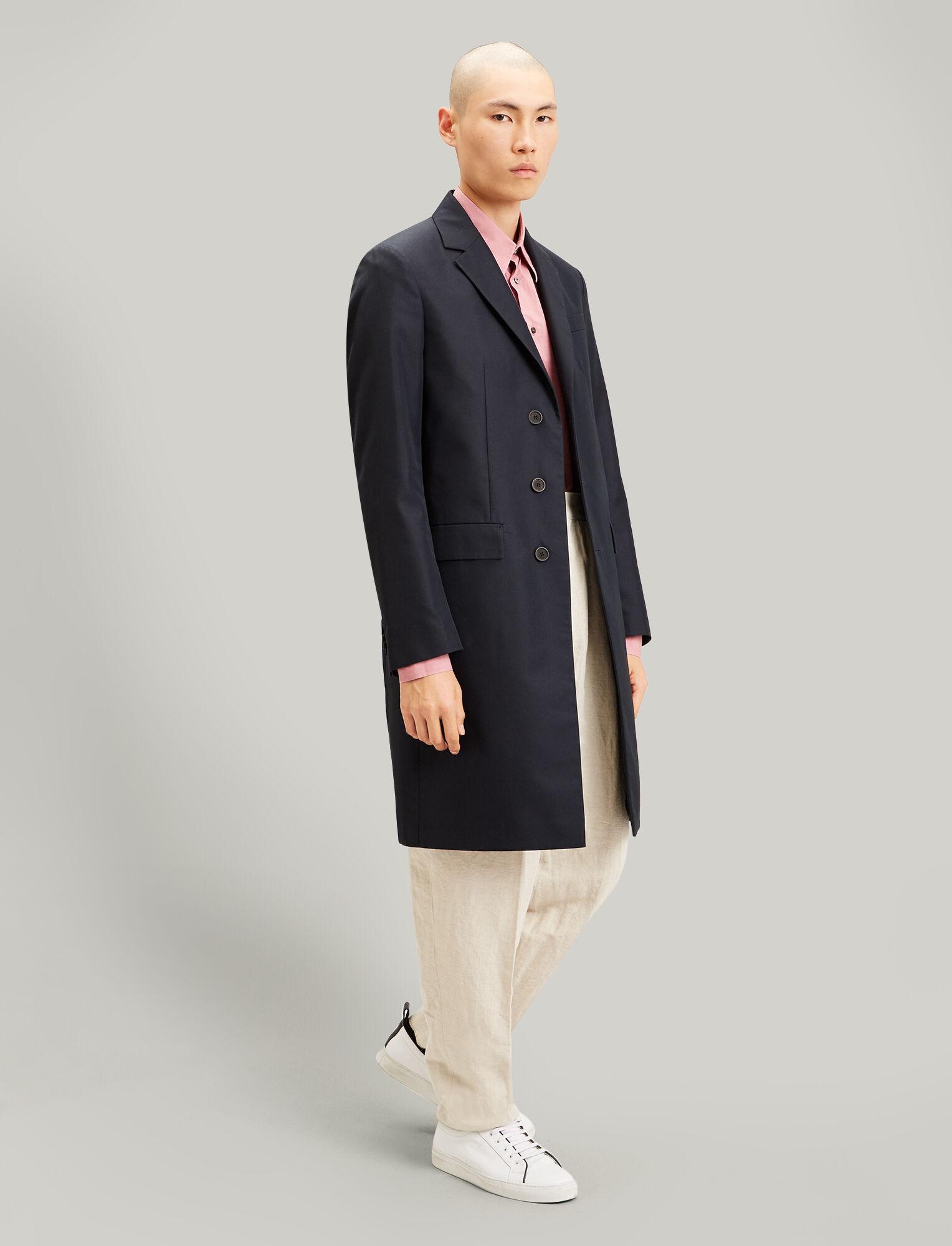 Joseph, London Cotton Nylon Blend Coat, in NAVY