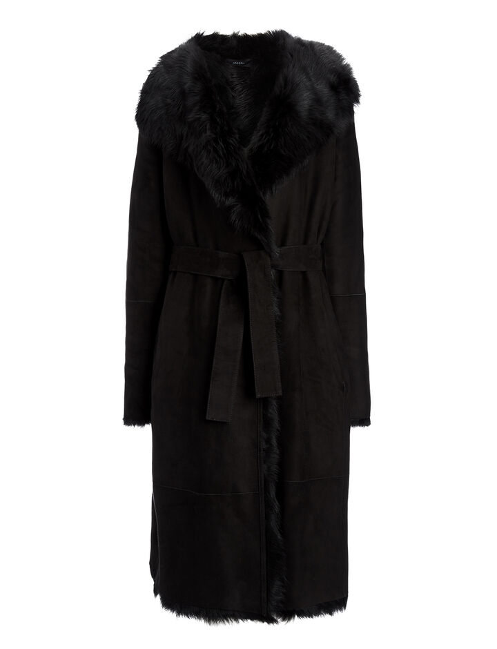 Joseph, Long Hair Toscana Lima Sheepskin, in BLACK