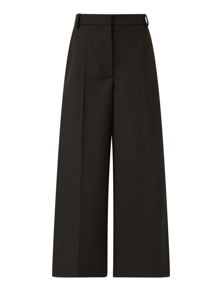 Joseph, Travis Wool Granite Trousers, in Black