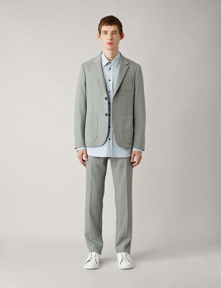 Joseph, Cassels-Fine Comfort Wool, in GREY CHINE