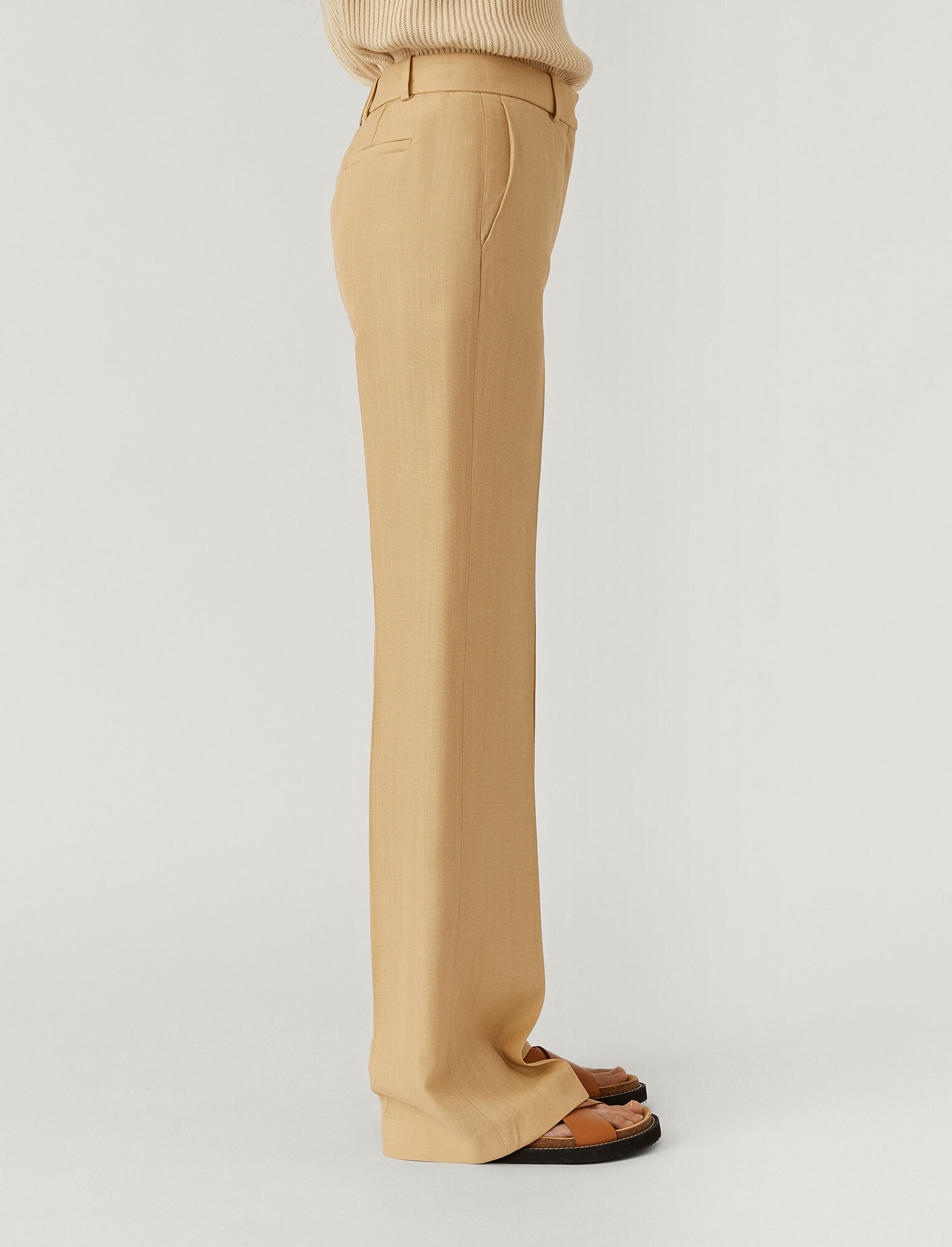 Joseph, Shantung Morissey Trousers, in NUDE