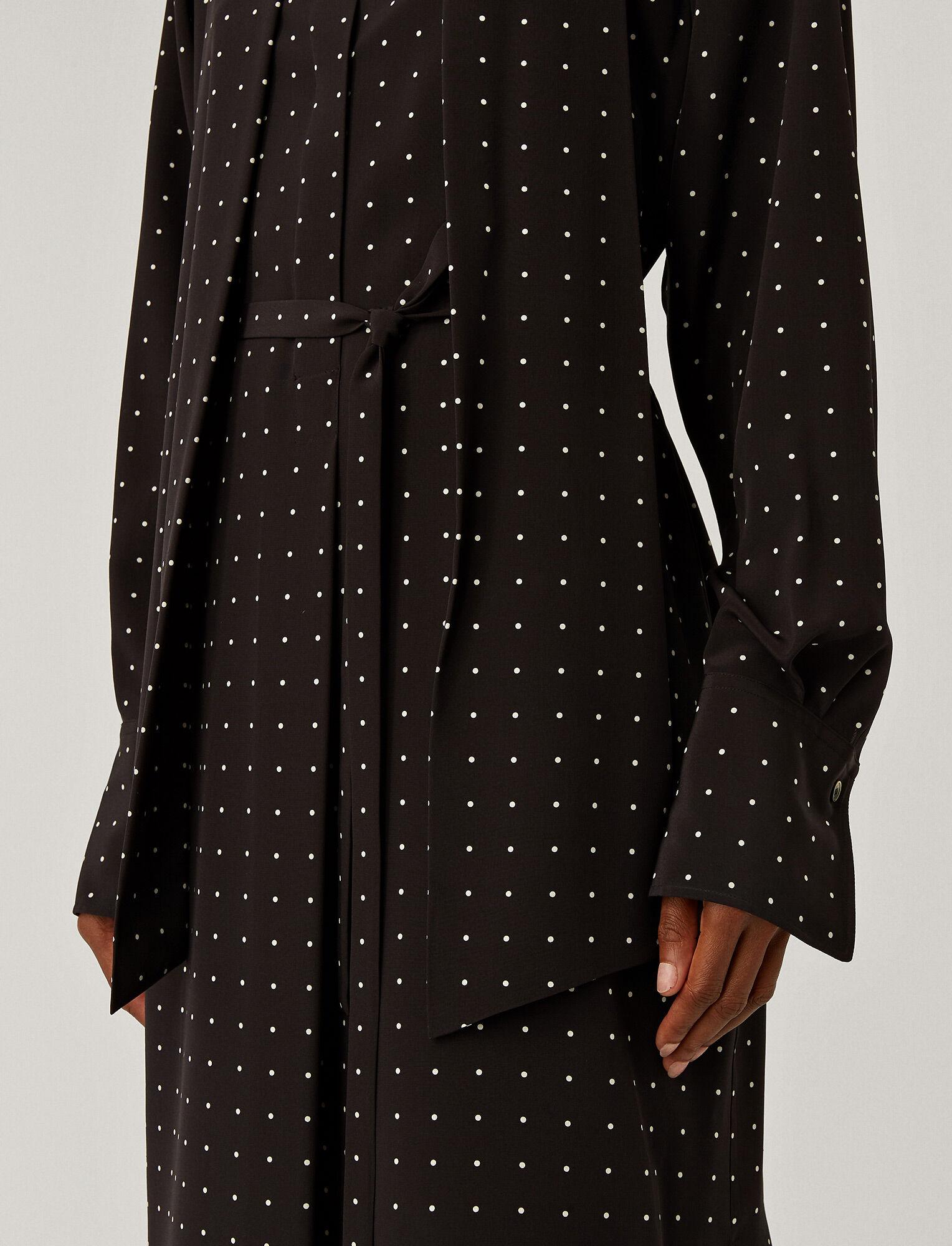 Joseph, Silk Polkadot Doriane Dress, in BLACK/IVORY