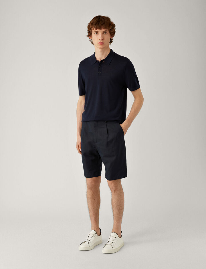 Joseph, Polo-Light Merinos, in NAVY