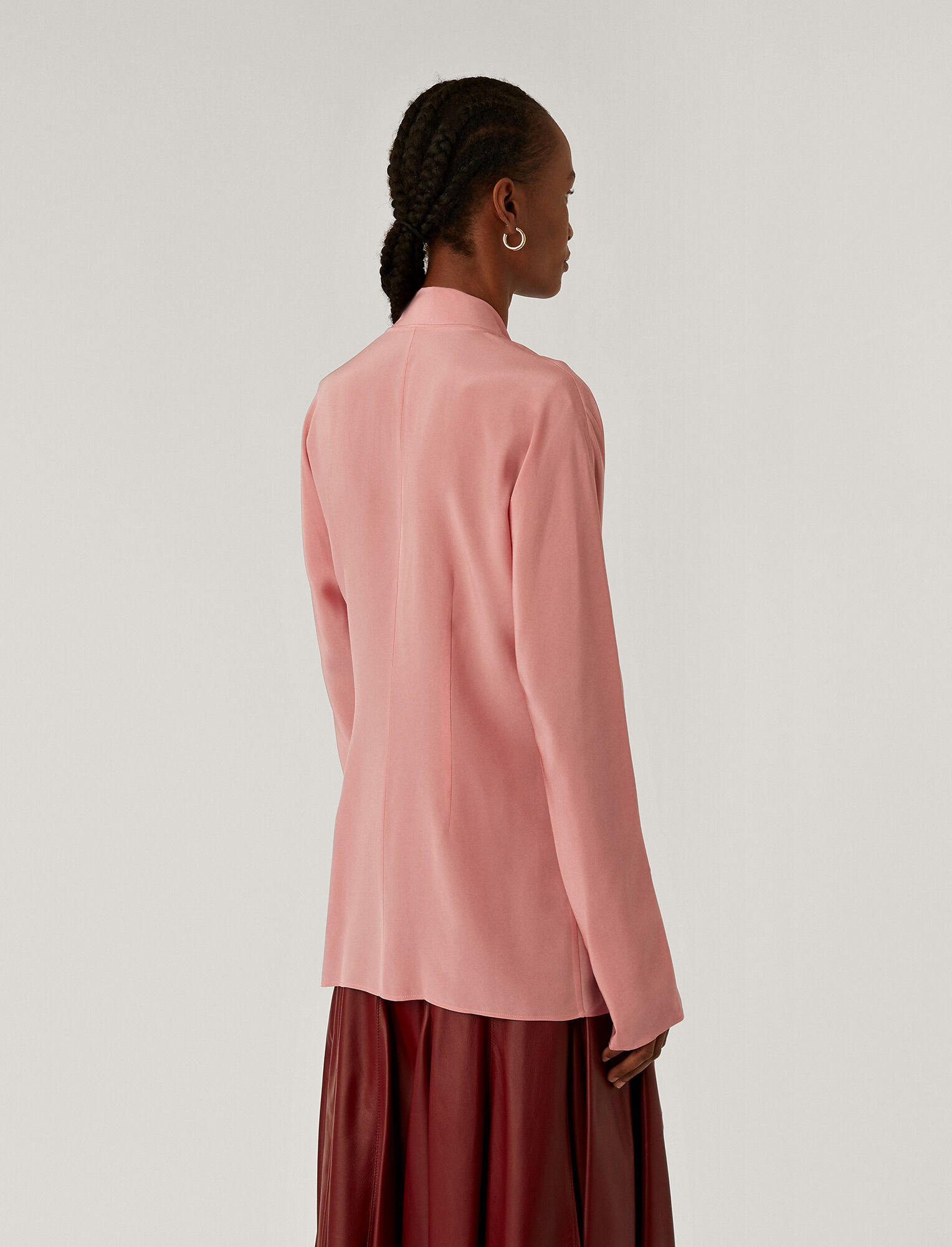 Joseph, Briti Crepe De Chine Blouse, in Rose