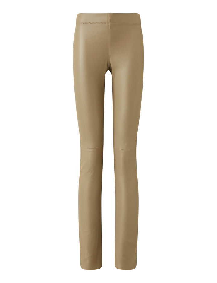 Joseph, Legging-Leather Stretch, in SAND