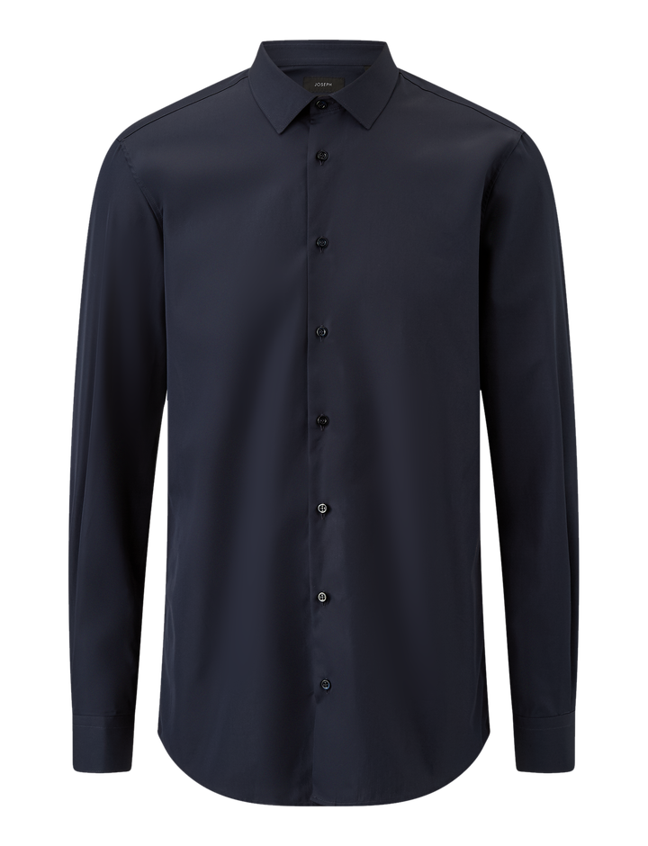 Joseph, James Poplin Shirt, in NAVY