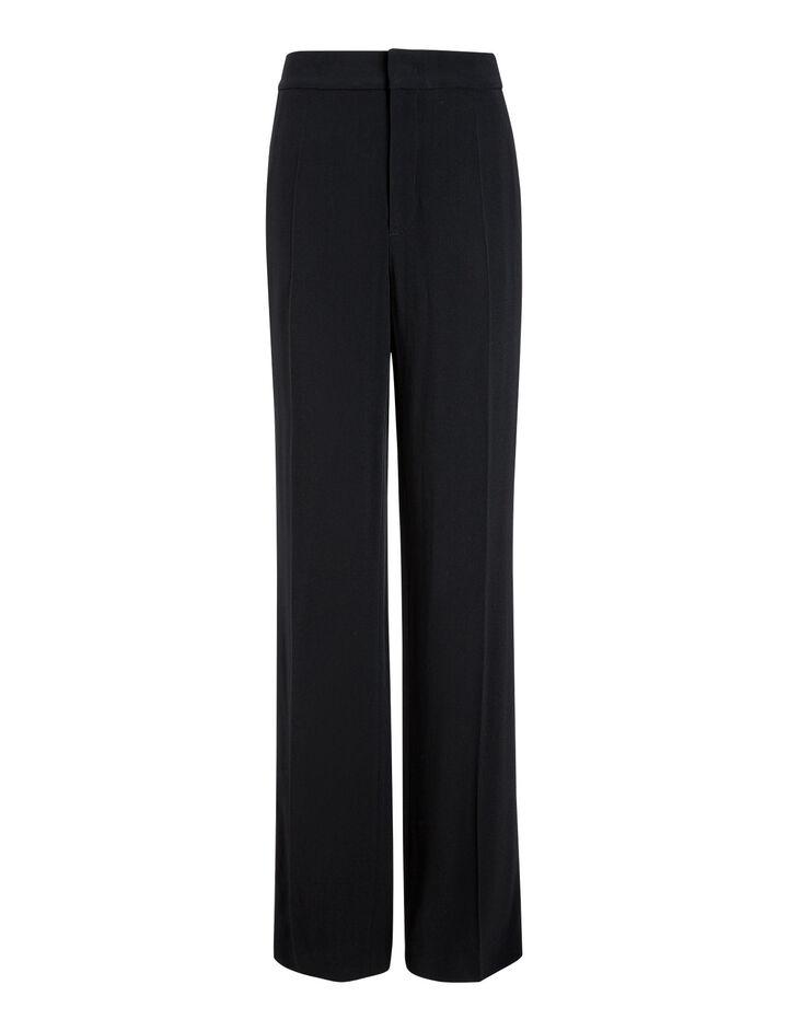 Joseph, New Ferdy Crepe Satin Trousers, in BLACK