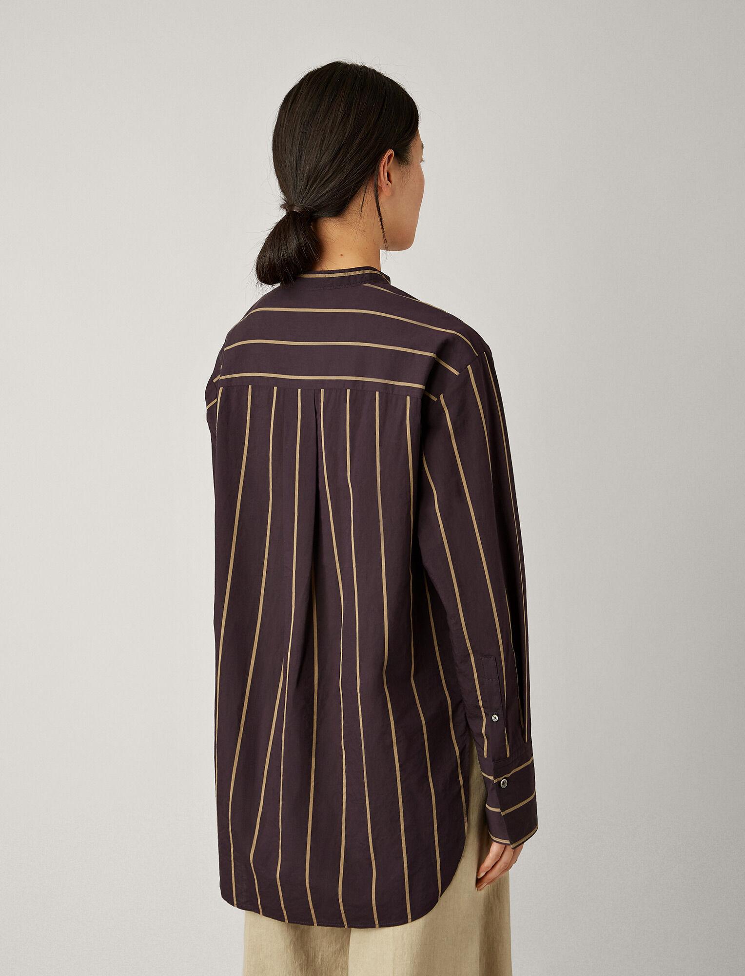 Joseph, Aufray Cotton Silk Stripe Blouse, in INK