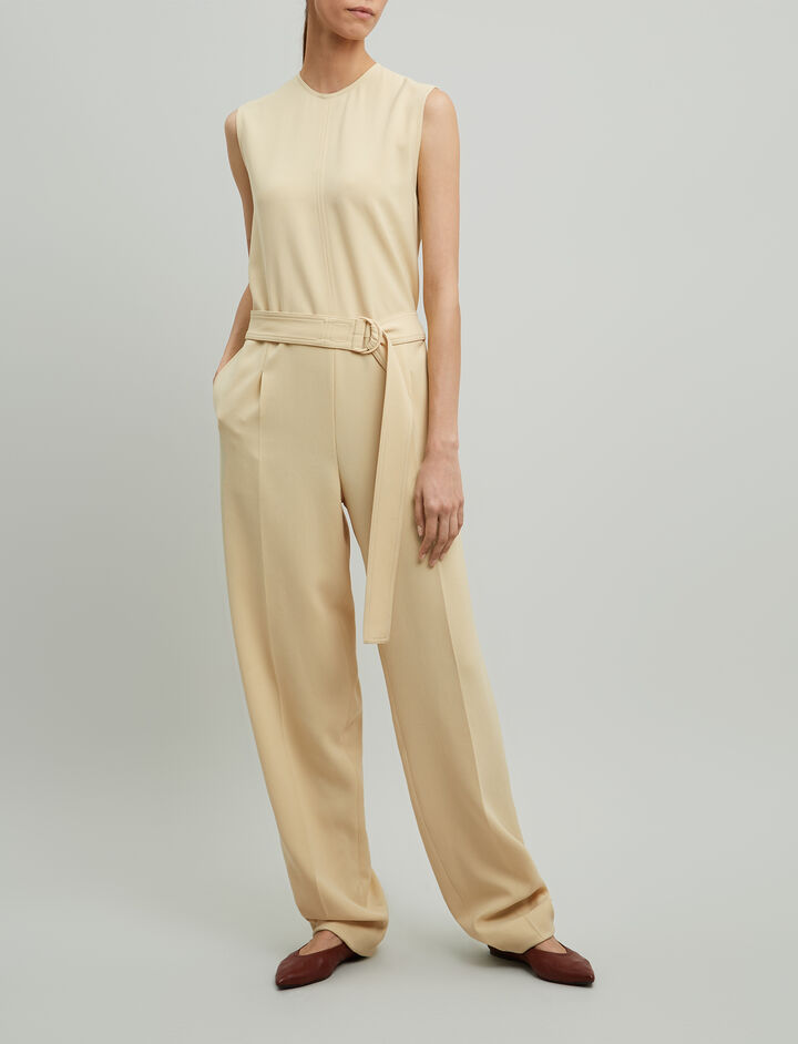 Joseph, Eddie Fluid Twill Dress, in BUTTER