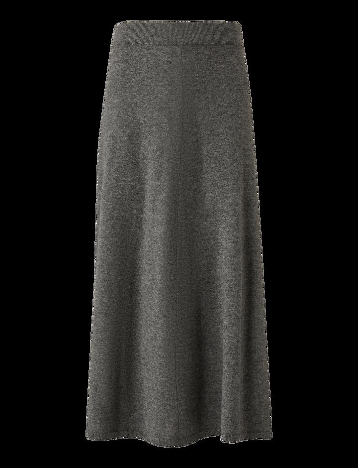 Joseph, Wool Cashmere Knit Skirt, in DARK GREY