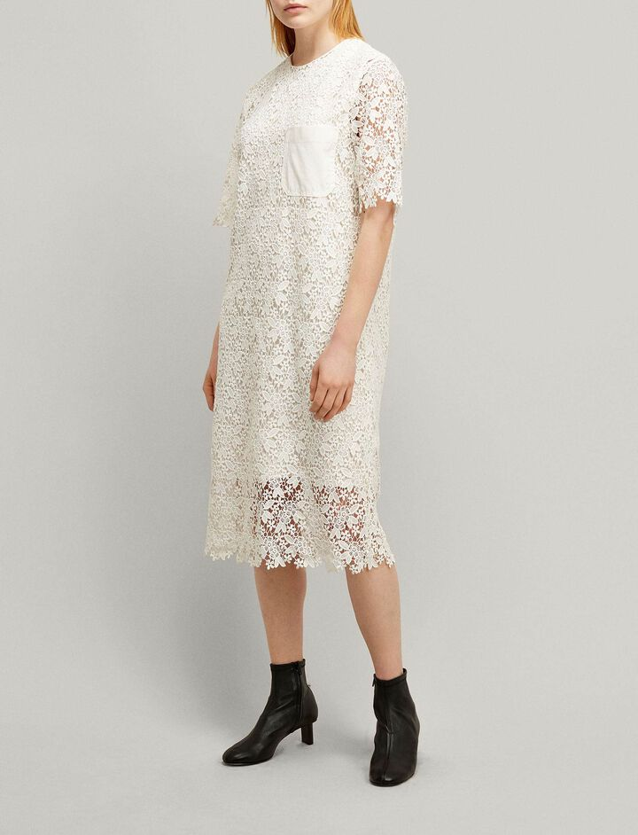 Joseph, Ellis Crochet Lace Dress, in WHITE