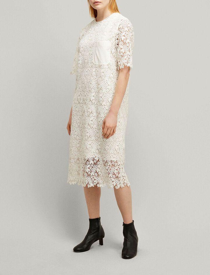 Joseph, Ellis Crochet Lace Dress, in WHITE