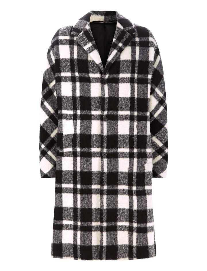 Joseph, Albert Blown Blanket Check Coat, in BLACK