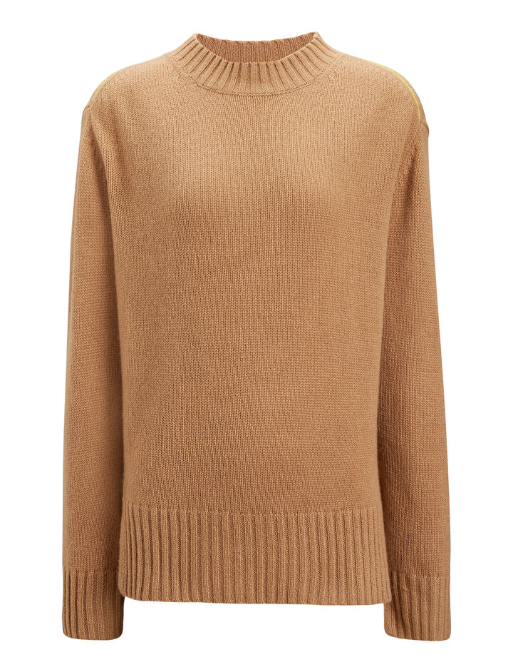 Joseph, Open Cashmere Knit, in CAMEL