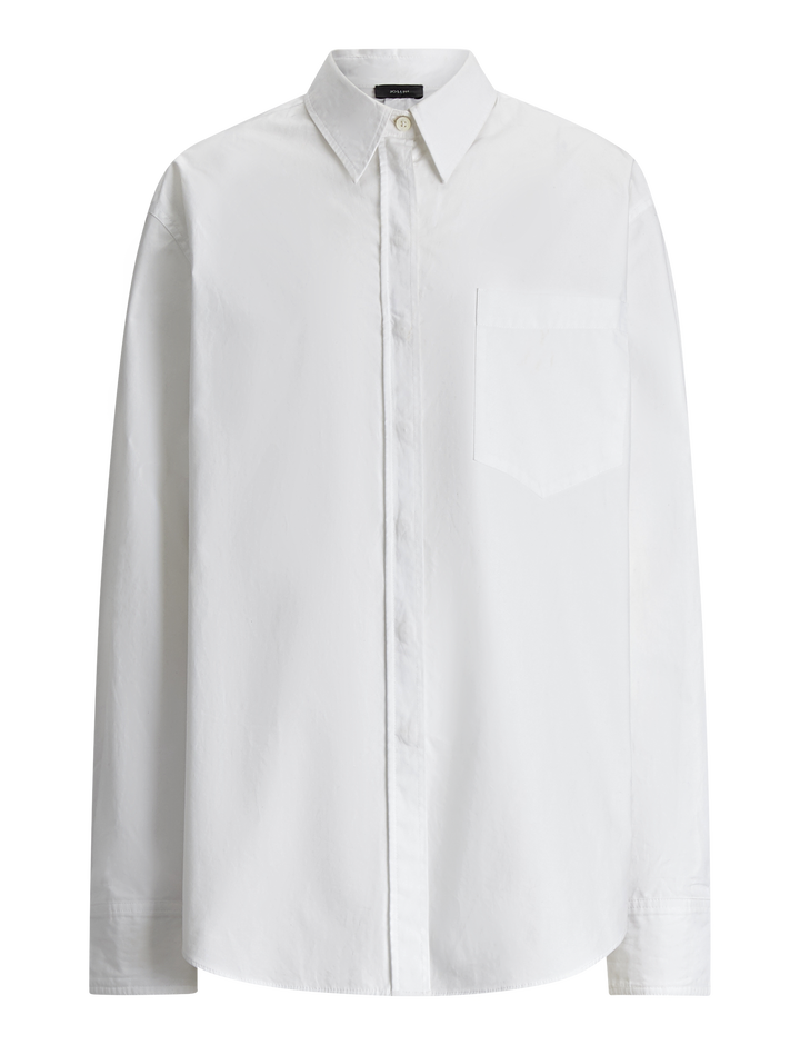 Joseph, Gibson Cotton Poplin Blouse, in WHITE