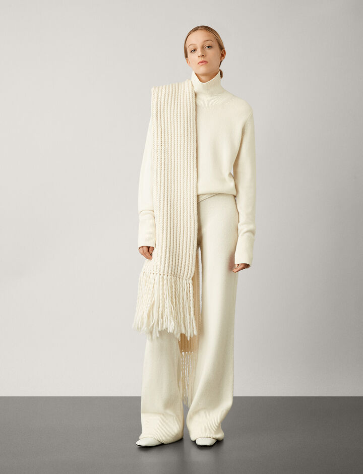Joseph, Pure Cashmere Knit Trousers, in CREAM