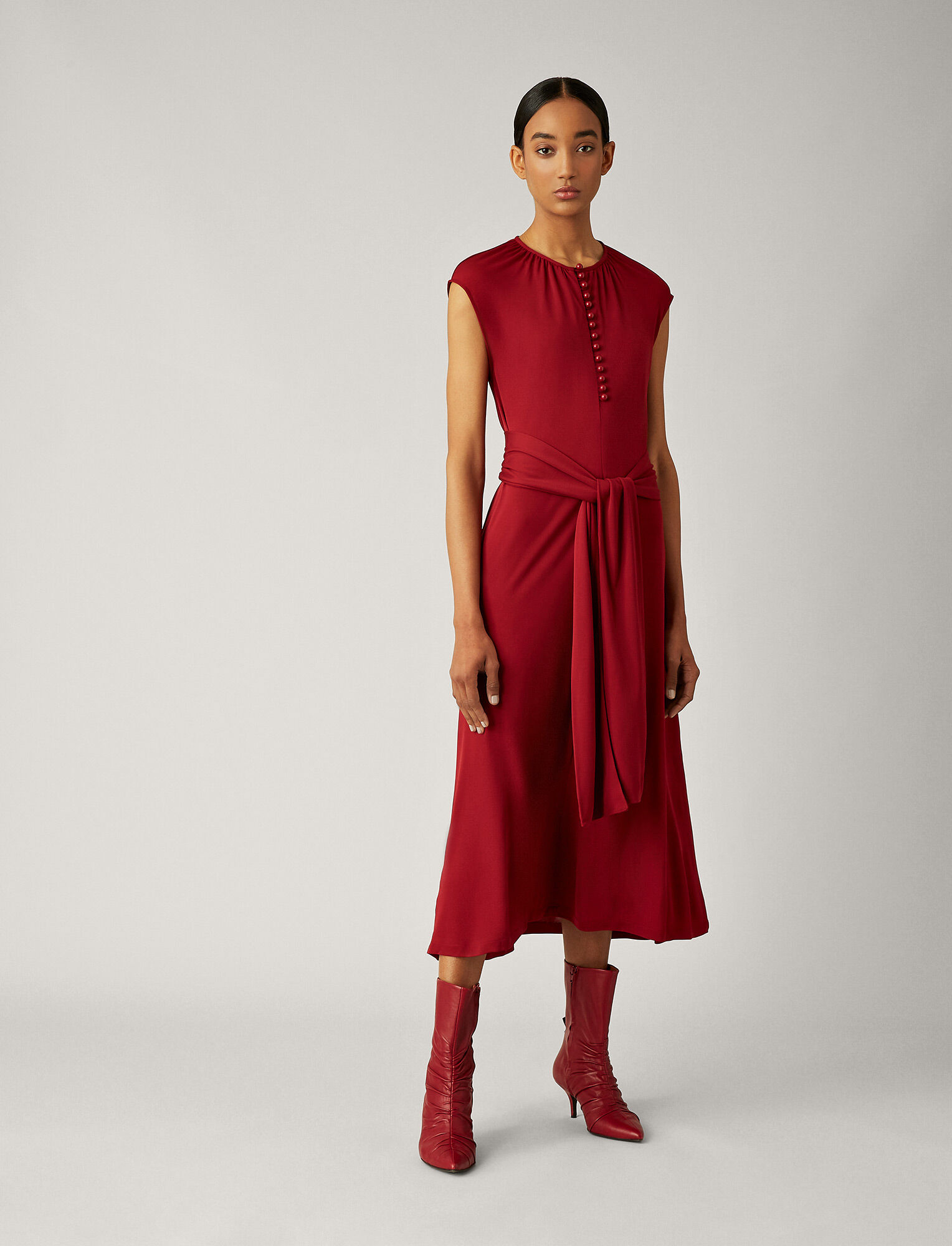 Joseph, Romy Crepe Jersey Dress, in RUBY