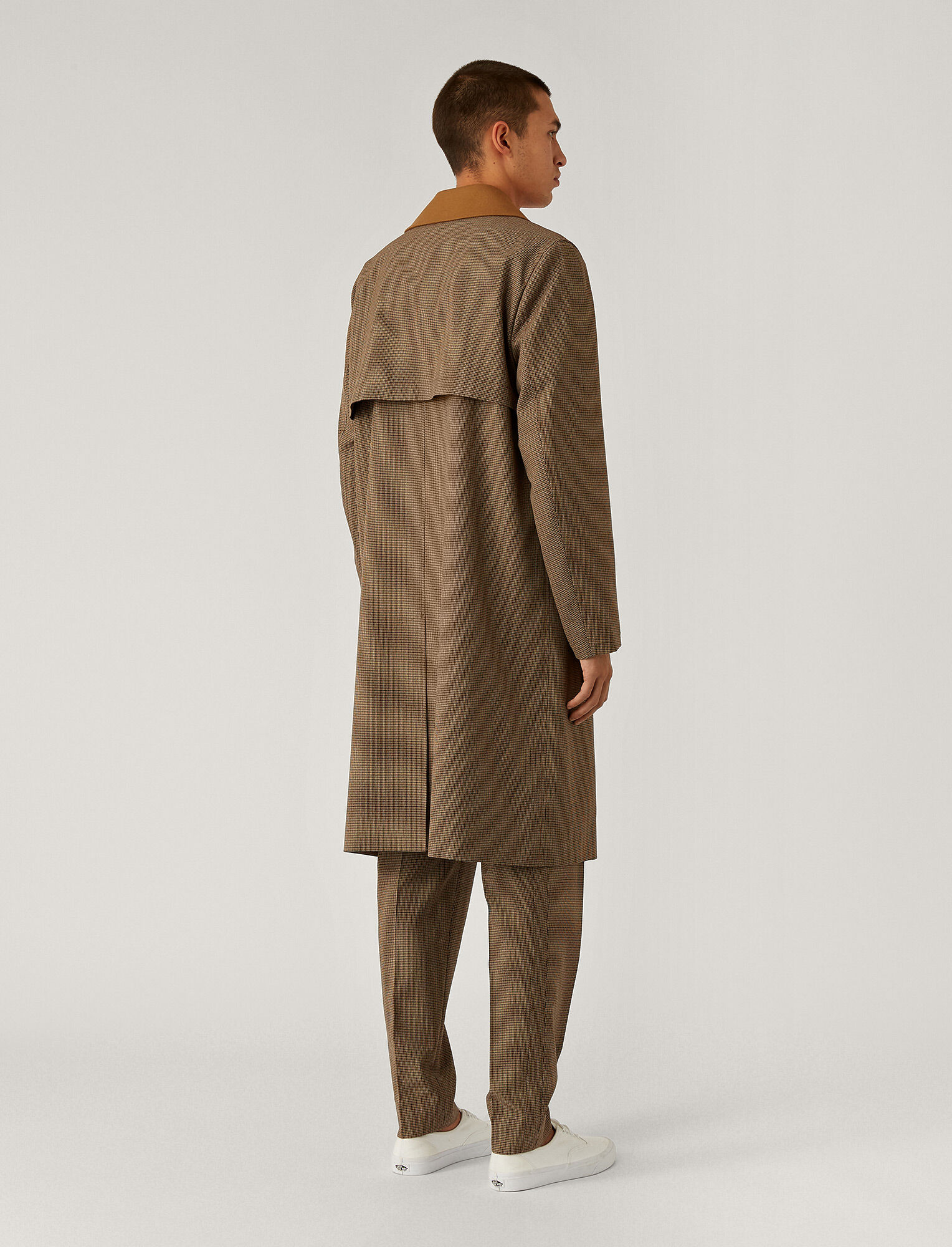 Joseph, Covert Cloth Combi Coat, in Bronze