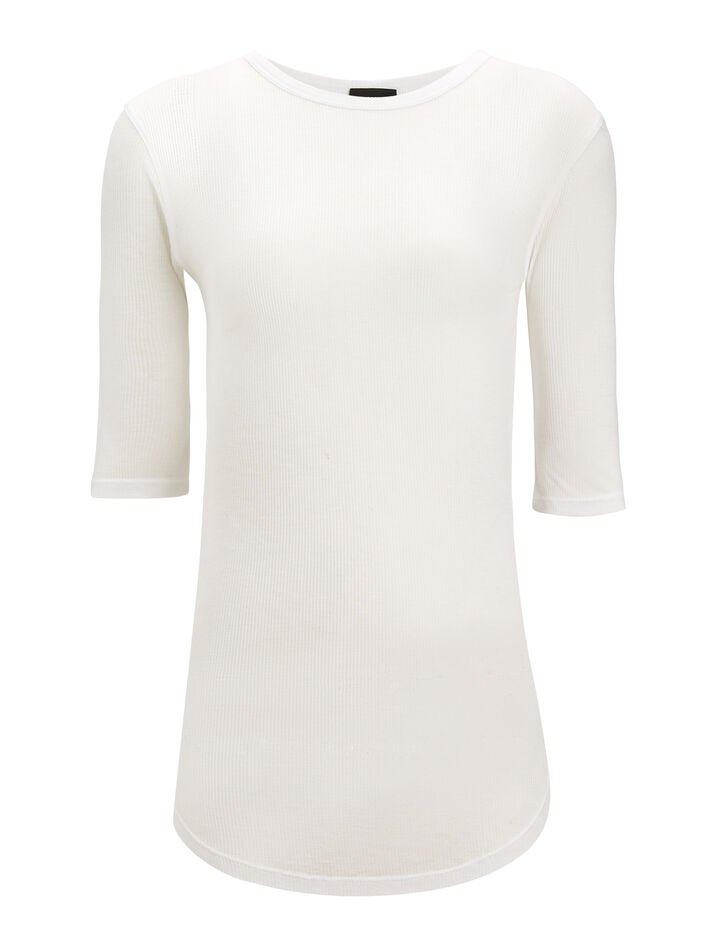 Joseph, Viscose Rib Jersey, in WHITE