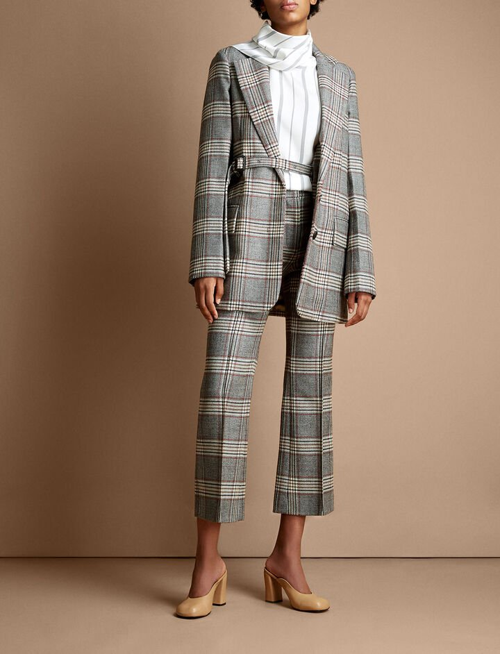 Joseph, Gemina Chevron Check Jacket, in MULTICOLOUR
