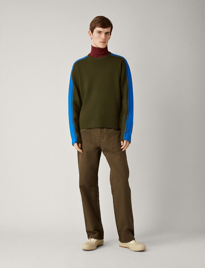 Joseph, Raglan Sportwear Milano Knit, in MILITARY