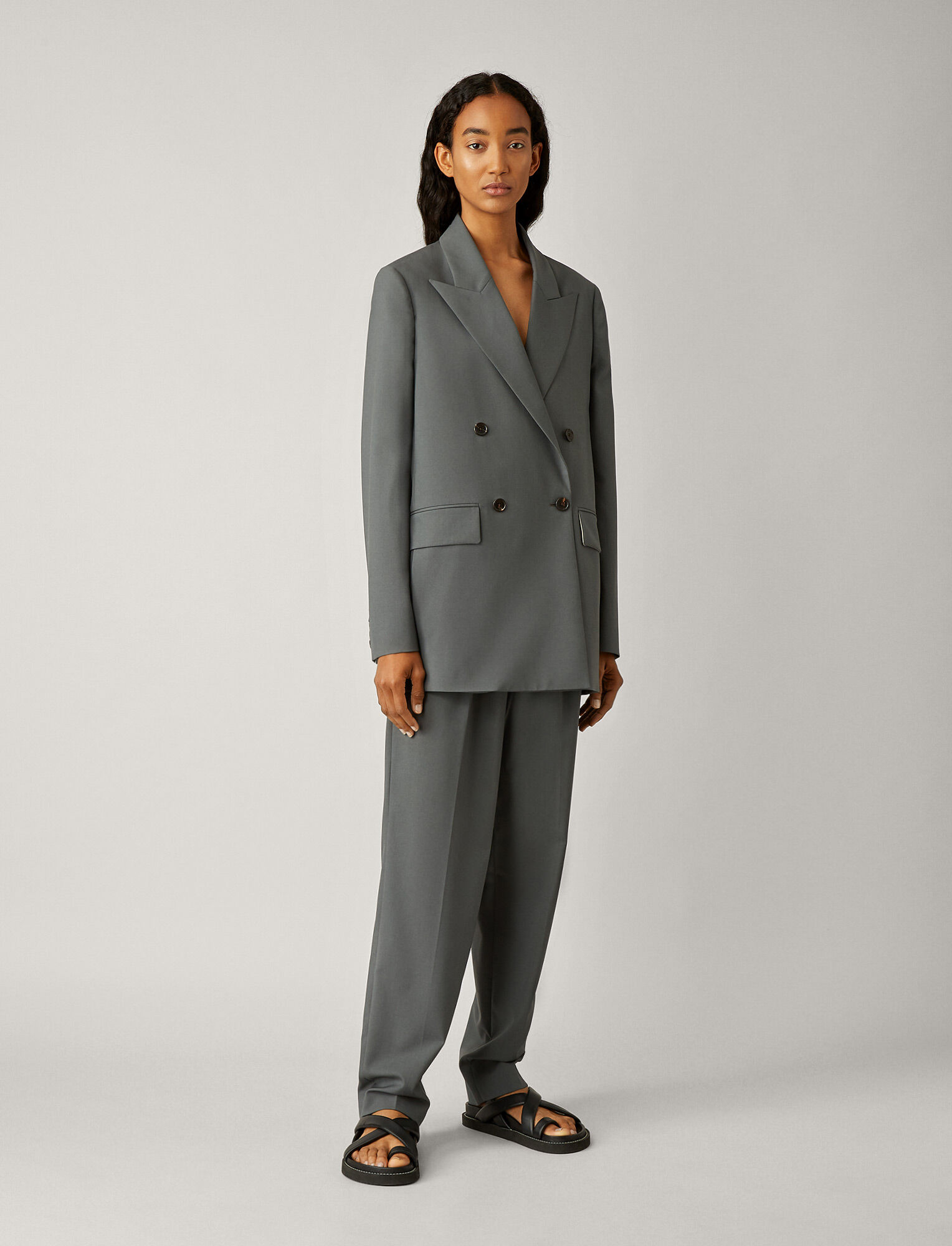 Joseph, Marshall Toile de Laine Jacket, in SLATE GREY