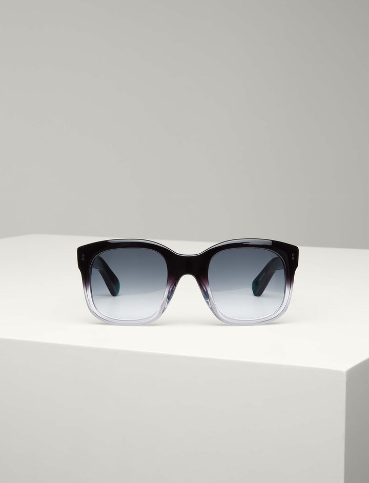 Joseph, Westbourne Sunglasses, in BLACK/TRANSPARENT