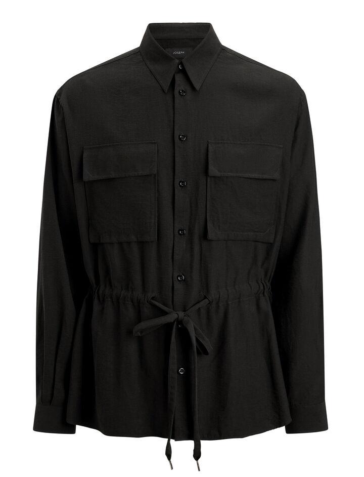 Joseph, Mandelieu Viscose Shirt, in BLACK