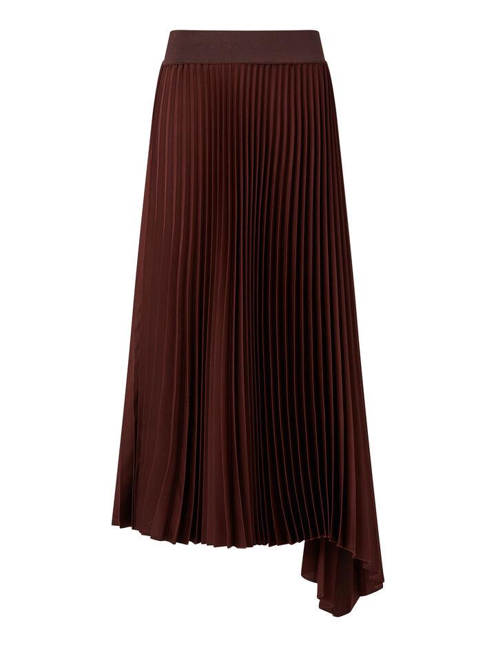 Joseph, Sabin Knit Weave Plissé Skirts, in Ganache