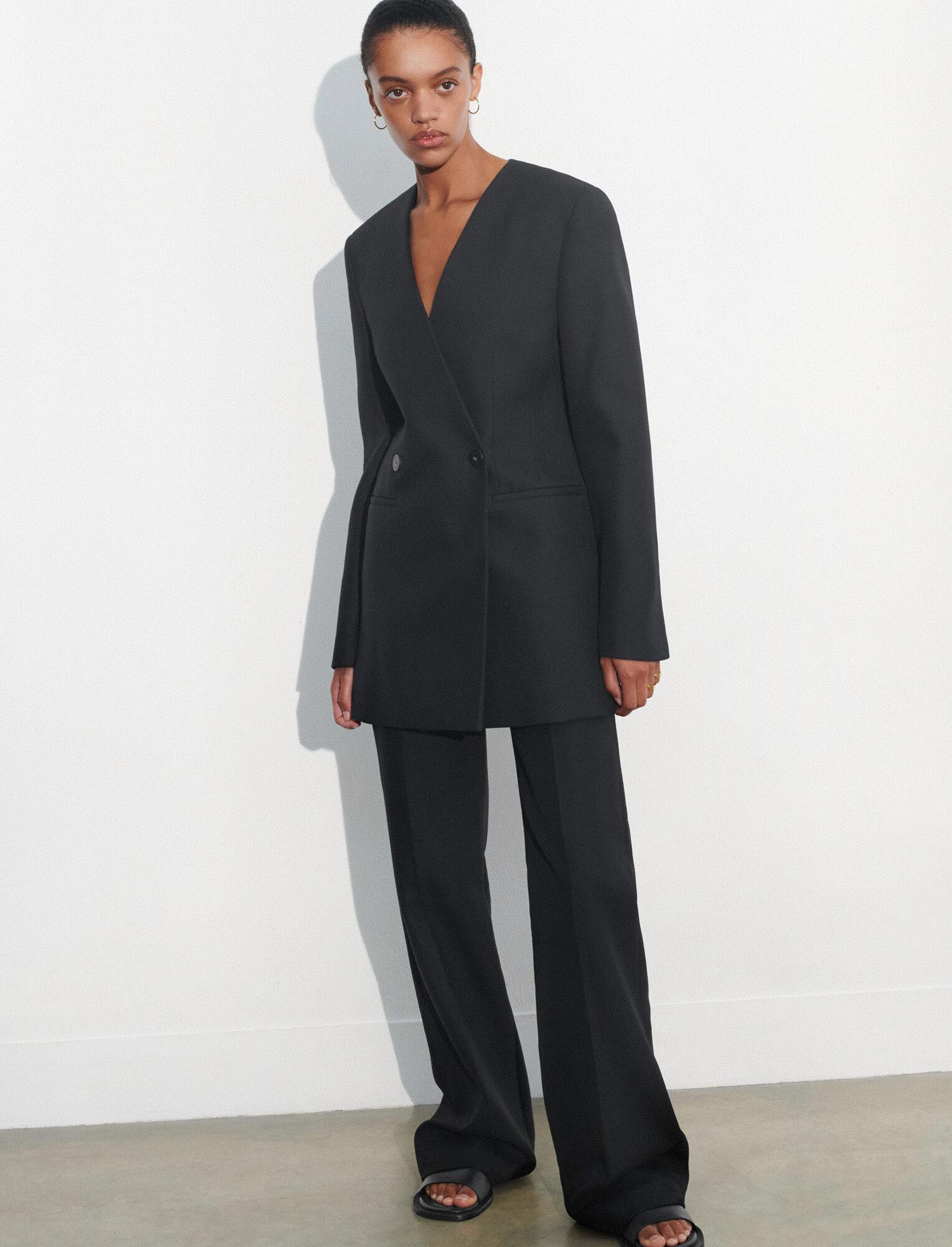 Joseph, Pure Cotton Twill Jem Jacket, in BLACK