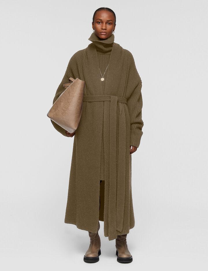 Joseph, Cardigan Stitch Coat, in ELM