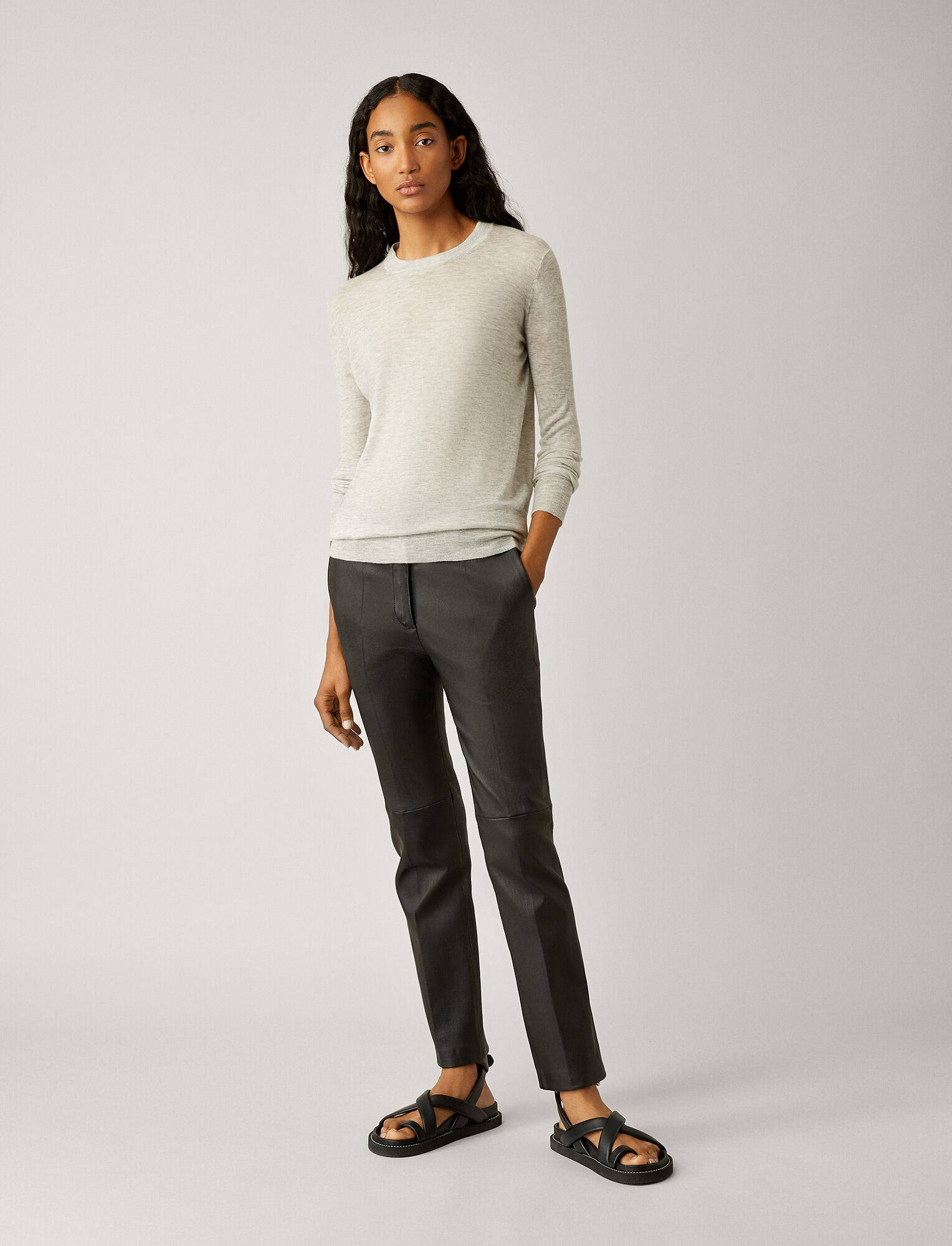 Joseph, Cashair Knit, in GREY CHINE