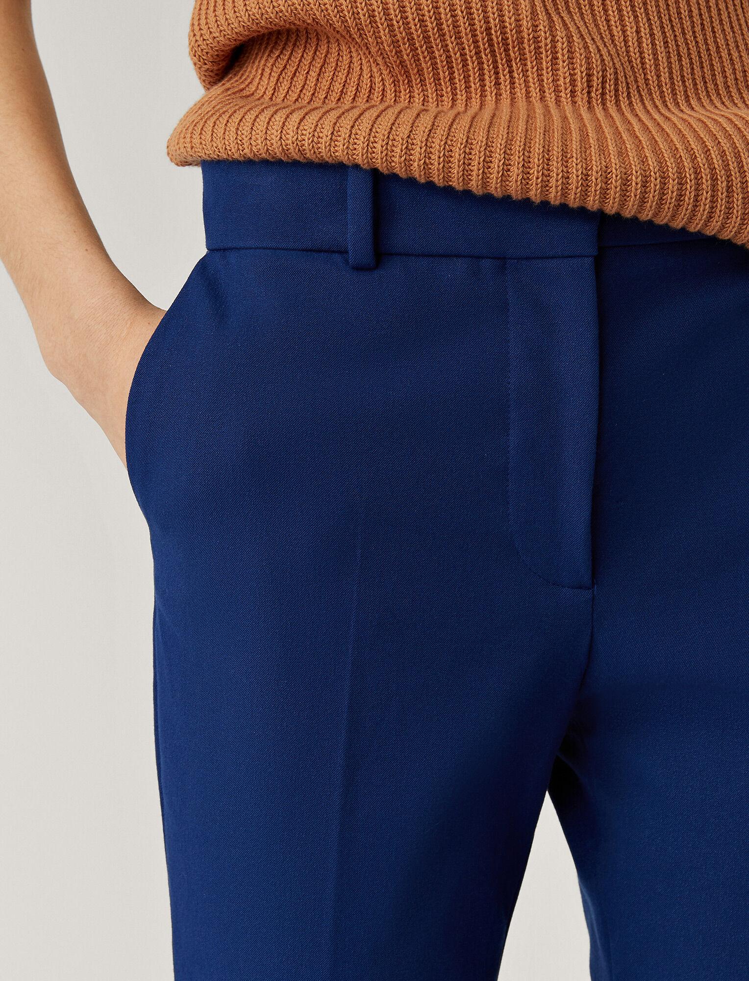 Joseph, Cole Gabardine Stretch Trousers, in KLEIN