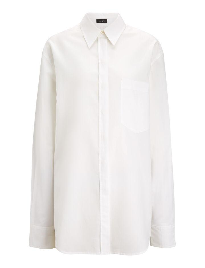 Joseph, Gibson Chintz Cotton Blouse, in WHITE