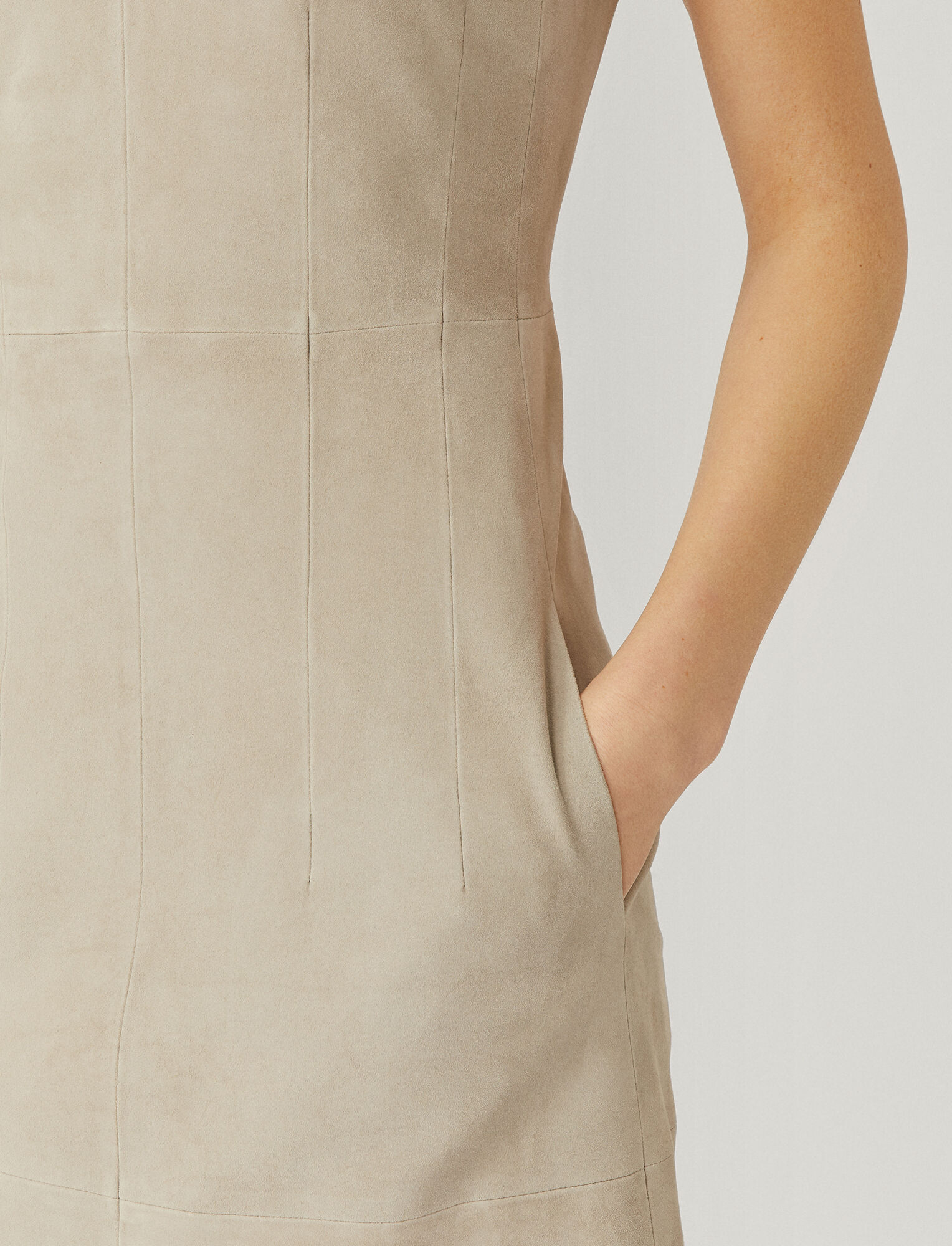 Joseph, Suede Nappa Cover Danty Dress, in CLOUD