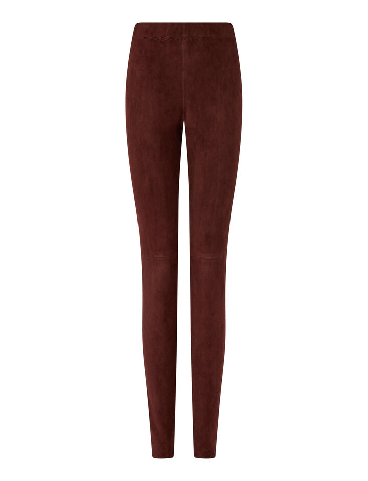 Joseph, Legging Suede Stretch Trousers, in Plum