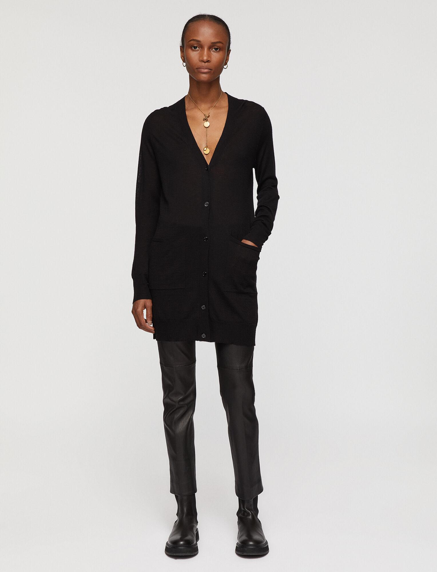 Joseph, Cardigan Cashair Knit, in BLACK