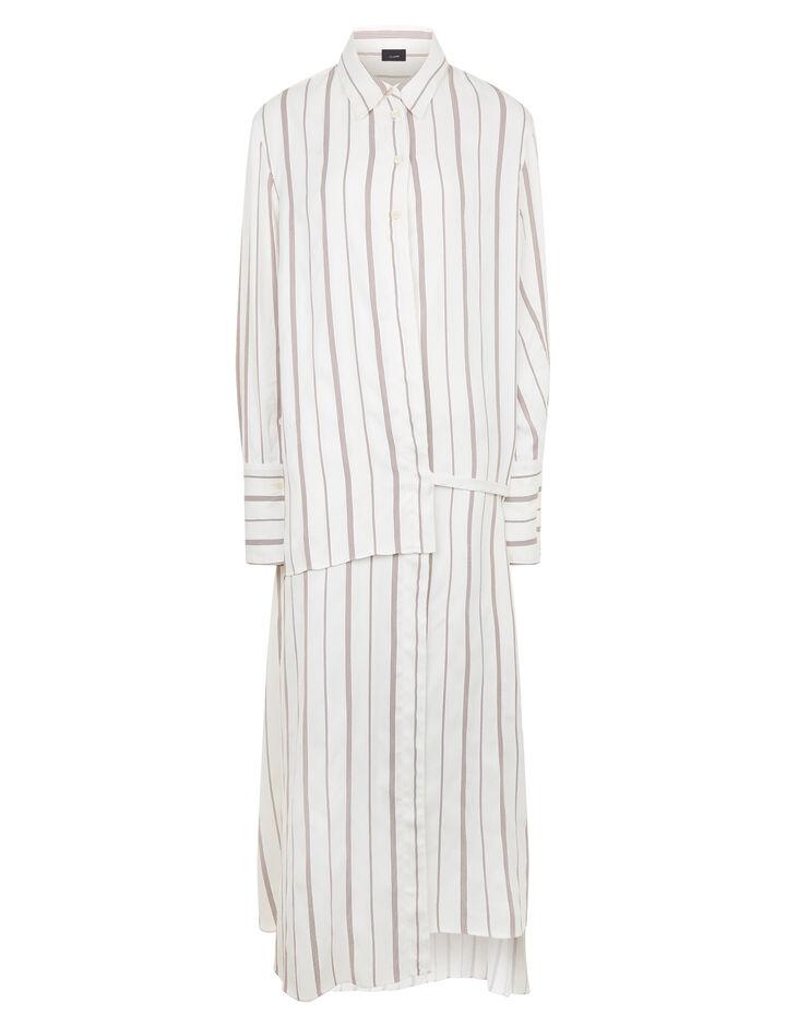Joseph, Claudi Rayon Stripe Dress, in RUBY