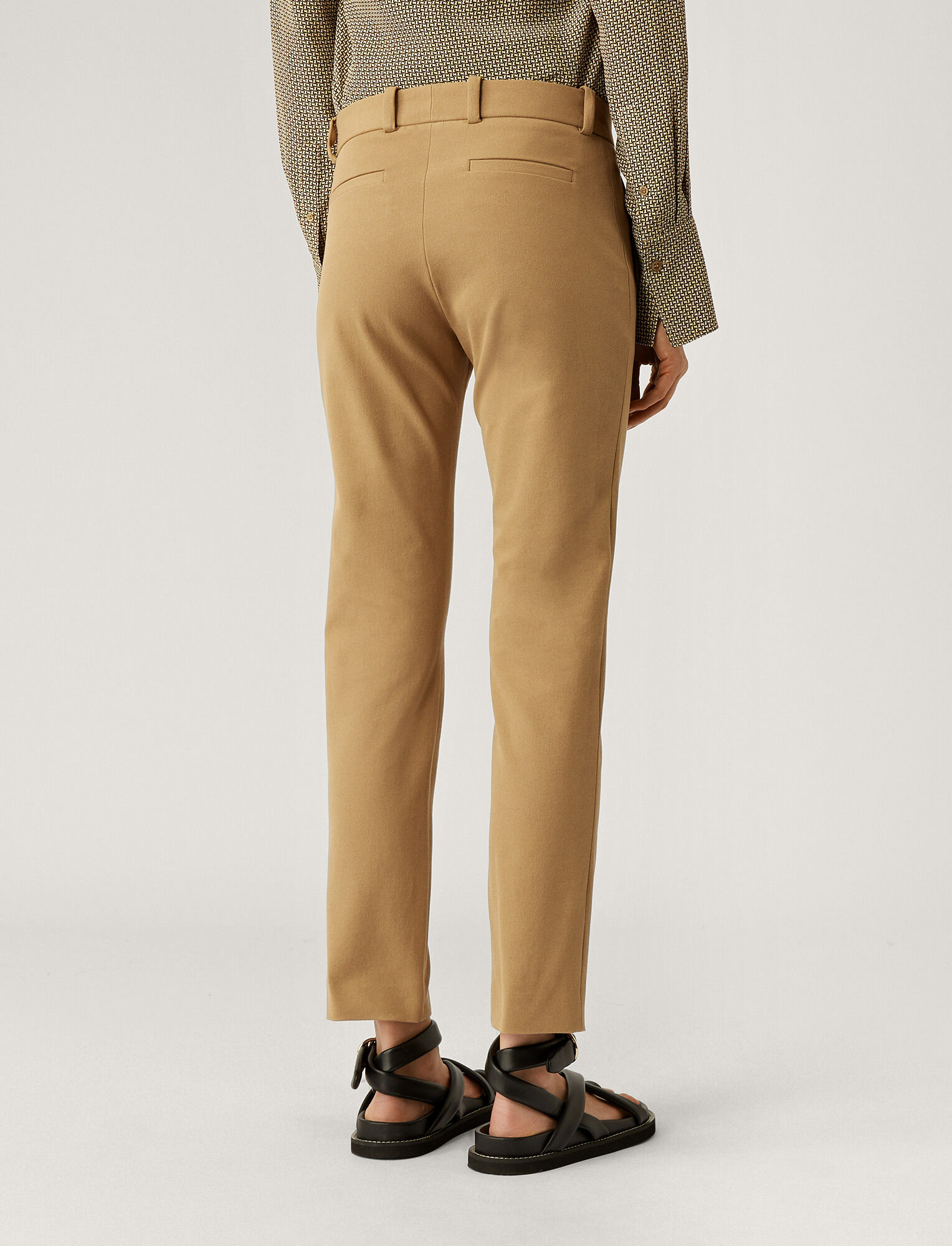 Joseph, New Elliston Gabardine Stretch Trousers, in CAMEL