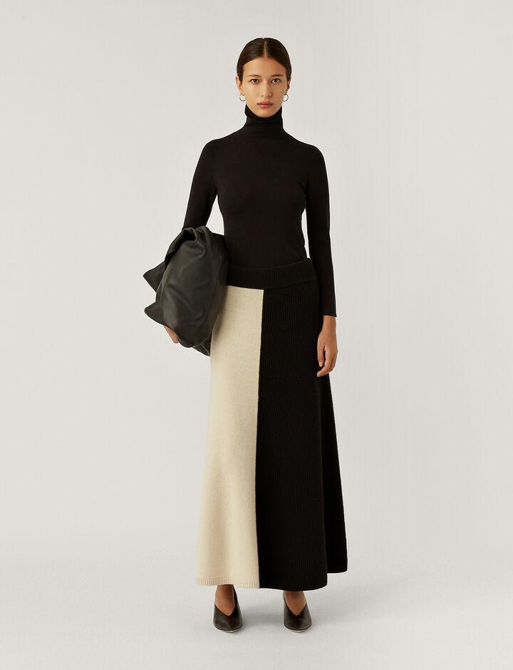 Joseph, Skirt-Soft Wool, in IVORY COMBO