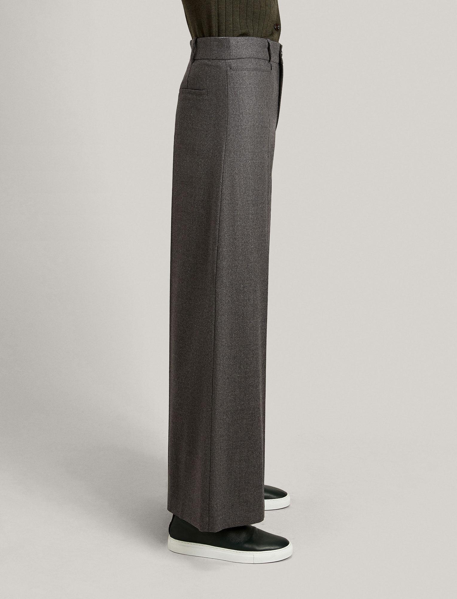 Joseph, Dana Flannel Stretch Trousers, in CHARCOAL