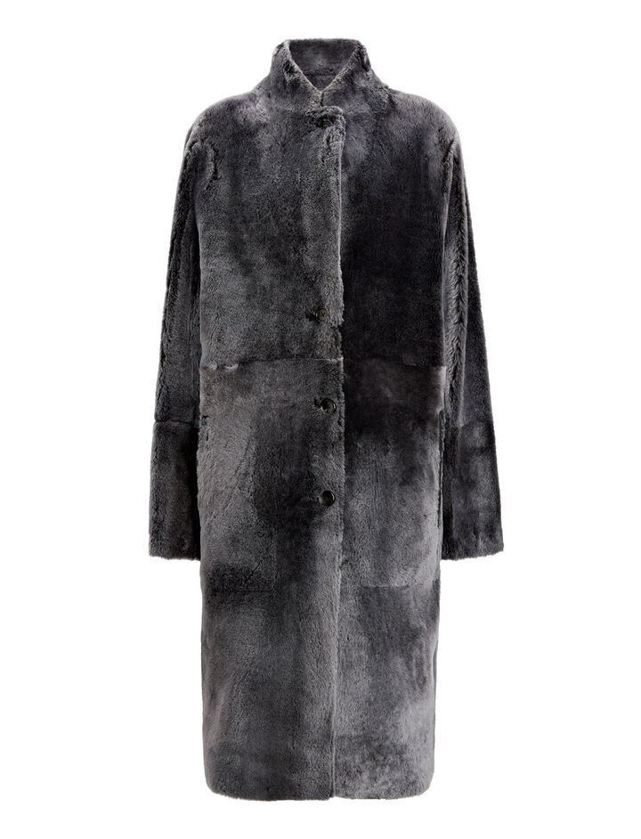 Joseph, Brittanny Polar Skin Coat, in BLACK