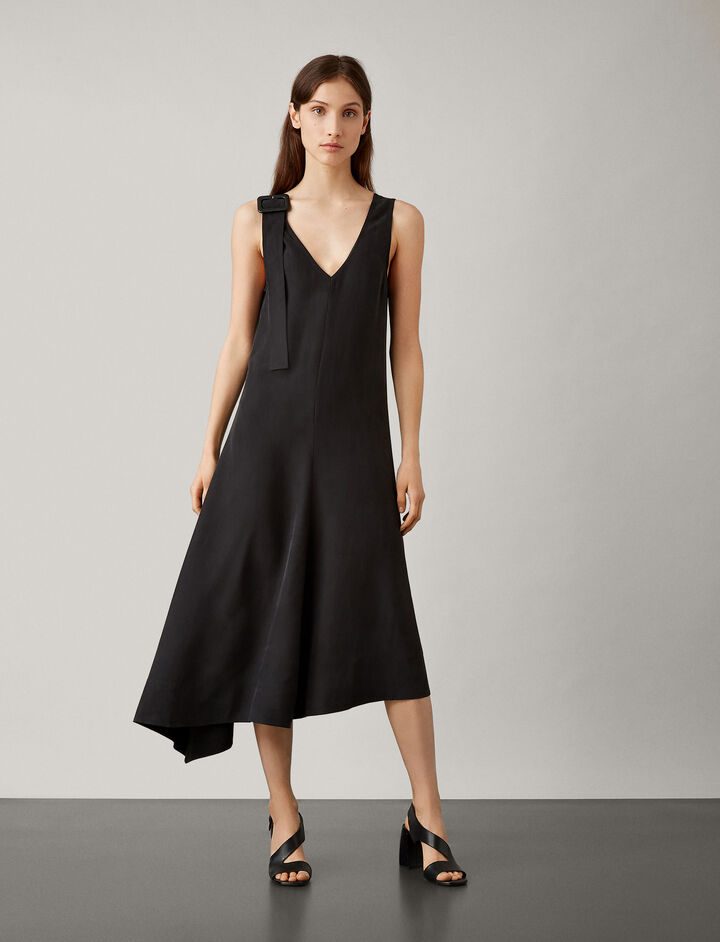 Joseph, Max Fuji Silk Dress, in BLACK