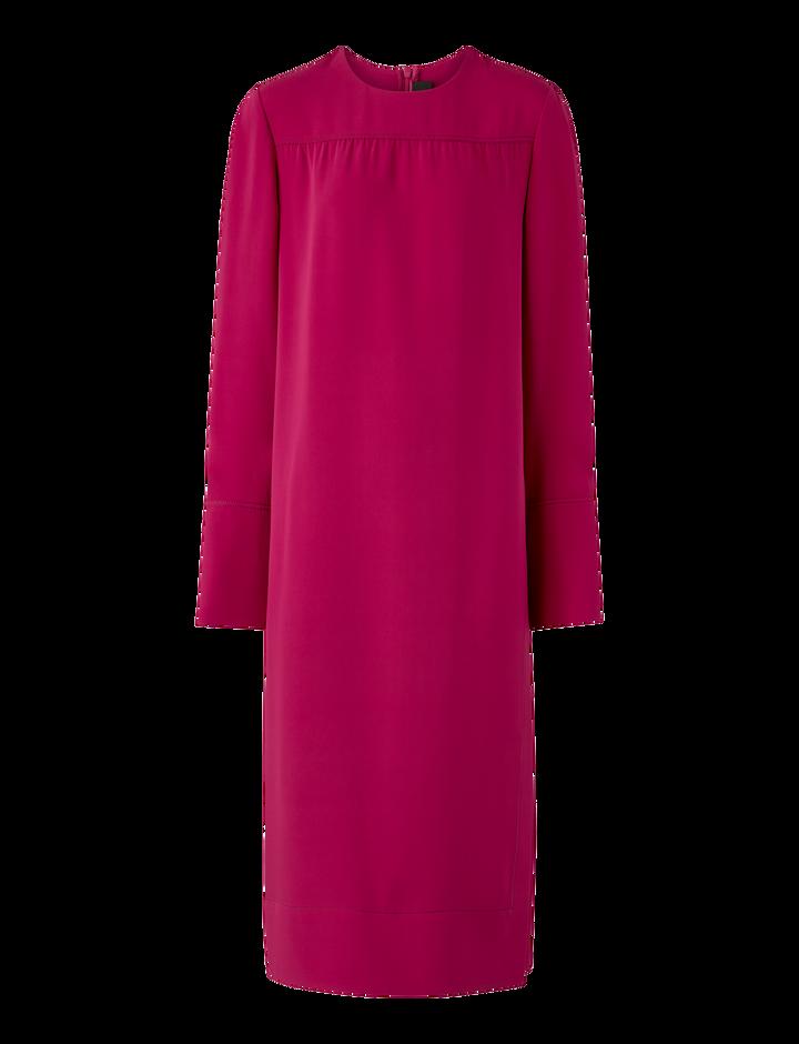 Joseph, Arlan Silk Crepe Dress, in MAGENTA