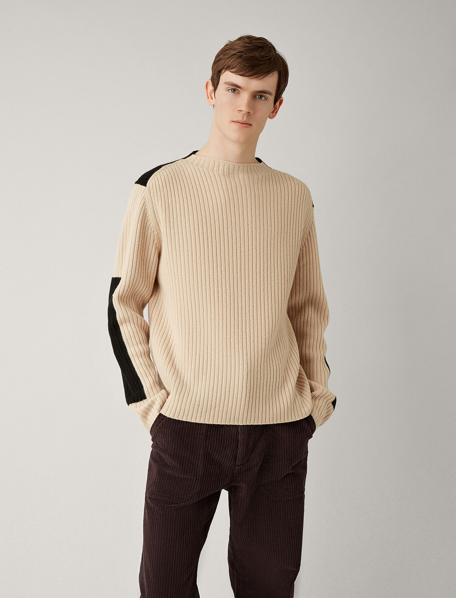 Joseph, Rib Sweater Soft Wool Knitwear, in LATTE
