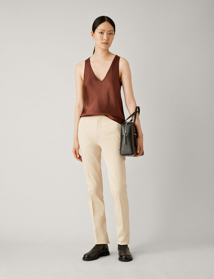 Joseph, Yuli Cotton Bi-Stretch Trousers, in BRACKEN